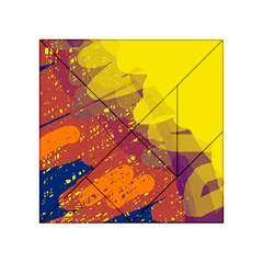 Colorful abstract pattern Acrylic Tangram Puzzle (4  x 4 )