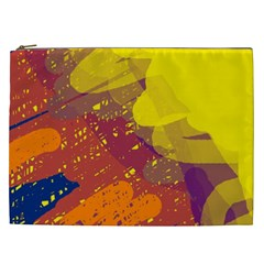 Colorful abstract pattern Cosmetic Bag (XXL)