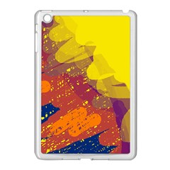 Colorful abstract pattern Apple iPad Mini Case (White)