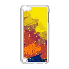 Colorful abstract pattern Apple iPod Touch 5 Case (White)