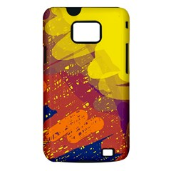 Colorful abstract pattern Samsung Galaxy S II i9100 Hardshell Case (PC+Silicone)