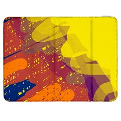 Colorful abstract pattern Samsung Galaxy Tab 7  P1000 Flip Case