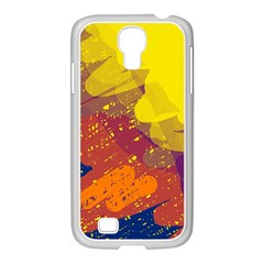 Colorful abstract pattern Samsung GALAXY S4 I9500/ I9505 Case (White)