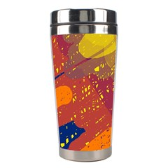 Colorful abstract pattern Stainless Steel Travel Tumblers