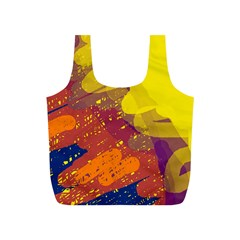 Colorful abstract pattern Full Print Recycle Bags (S)