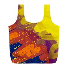 Colorful abstract pattern Full Print Recycle Bags (L)