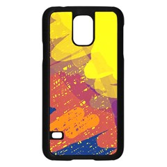 Colorful abstract pattern Samsung Galaxy S5 Case (Black)