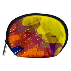 Colorful abstract pattern Accessory Pouches (Medium)