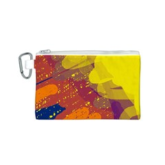 Colorful abstract pattern Canvas Cosmetic Bag (S)