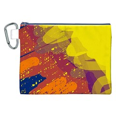 Colorful abstract pattern Canvas Cosmetic Bag (XXL)