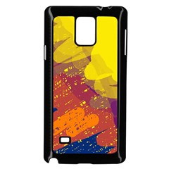 Colorful abstract pattern Samsung Galaxy Note 4 Case (Black)