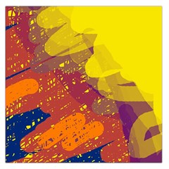 Colorful abstract pattern Large Satin Scarf (Square)