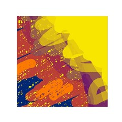 Colorful abstract pattern Small Satin Scarf (Square)
