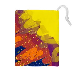 Colorful abstract pattern Drawstring Pouches (Extra Large)