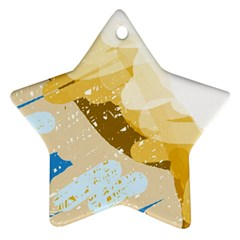 Artistic pastel pattern Ornament (Star)