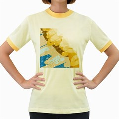 Artistic pastel pattern Women s Fitted Ringer T-Shirts