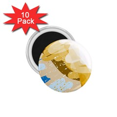 Artistic pastel pattern 1.75  Magnets (10 pack)