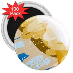 Artistic pastel pattern 3  Magnets (100 pack)