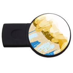Artistic pastel pattern USB Flash Drive Round (2 GB)