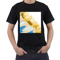 Artistic pastel pattern Men s T-Shirt (Black) (Two Sided)