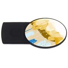 Artistic pastel pattern USB Flash Drive Oval (4 GB)