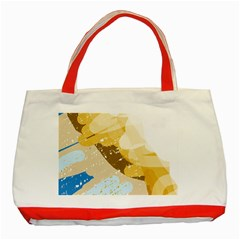 Artistic pastel pattern Classic Tote Bag (Red)
