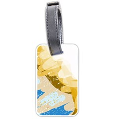 Artistic pastel pattern Luggage Tags (One Side)