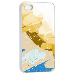 Artistic pastel pattern Apple iPhone 4/4s Seamless Case (White)