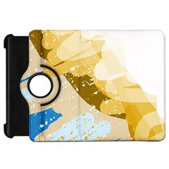 Artistic pastel pattern Kindle Fire HD Flip 360 Case