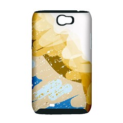 Artistic pastel pattern Samsung Galaxy Note 2 Hardshell Case (PC+Silicone)