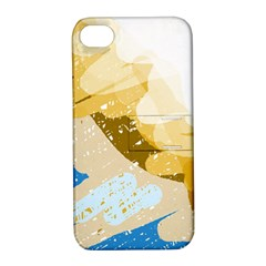 Artistic pastel pattern Apple iPhone 4/4S Hardshell Case with Stand