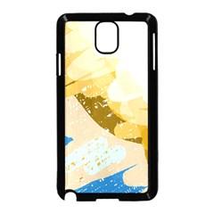 Artistic pastel pattern Samsung Galaxy Note 3 Neo Hardshell Case (Black)