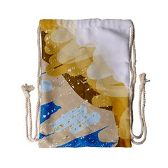 Artistic pastel pattern Drawstring Bag (Small)