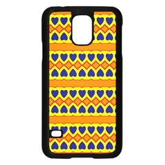 Hearts And Rhombus Pattern                                                                                         			samsung Galaxy S5 Case (black)