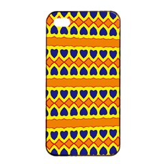 Hearts and rhombus pattern                                                                                         			Apple iPhone 4/4s Seamless Case (Black)