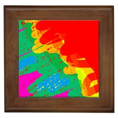 Colorful abstract design Framed Tiles