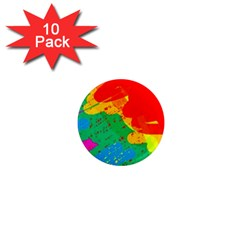 Colorful abstract design 1  Mini Magnet (10 pack)