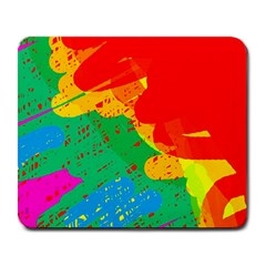Colorful abstract design Large Mousepads