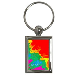 Colorful abstract design Key Chains (Rectangle)