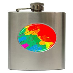 Colorful abstract design Hip Flask (6 oz)