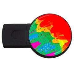 Colorful abstract design USB Flash Drive Round (1 GB)