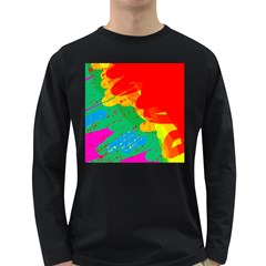 Colorful abstract design Long Sleeve Dark T-Shirts