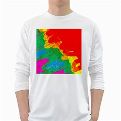 Colorful abstract design White Long Sleeve T-Shirts