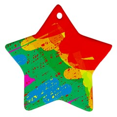 Colorful abstract design Star Ornament (Two Sides)