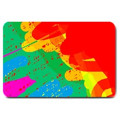 Colorful abstract design Large Doormat