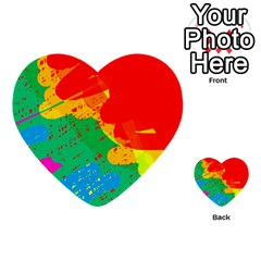 Colorful abstract design Multi-purpose Cards (Heart)