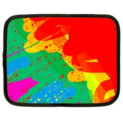 Colorful abstract design Netbook Case (XL)