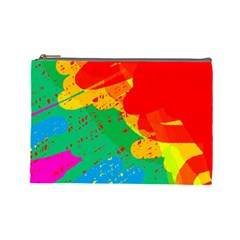 Colorful abstract design Cosmetic Bag (Large)