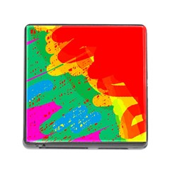 Colorful abstract design Memory Card Reader (Square)