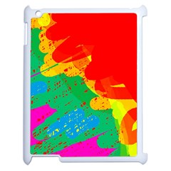 Colorful abstract design Apple iPad 2 Case (White)